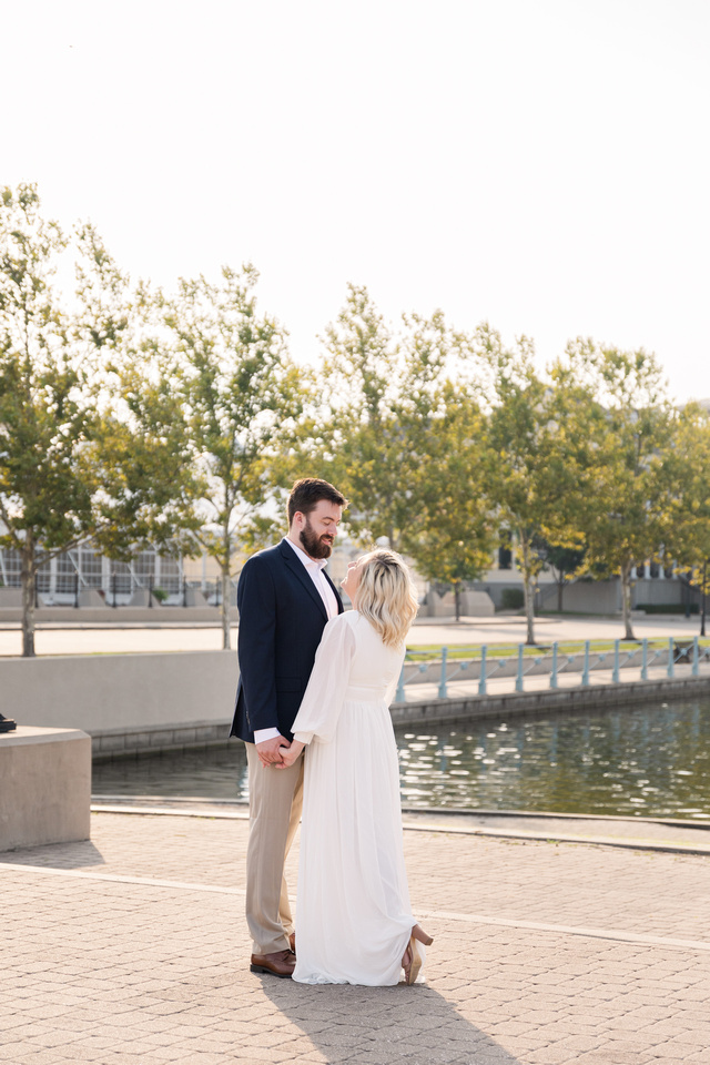 Sydney and John Engagement Session - New Town - Brittany Lynn Imagery LLC - St Charles MO Photographer -9