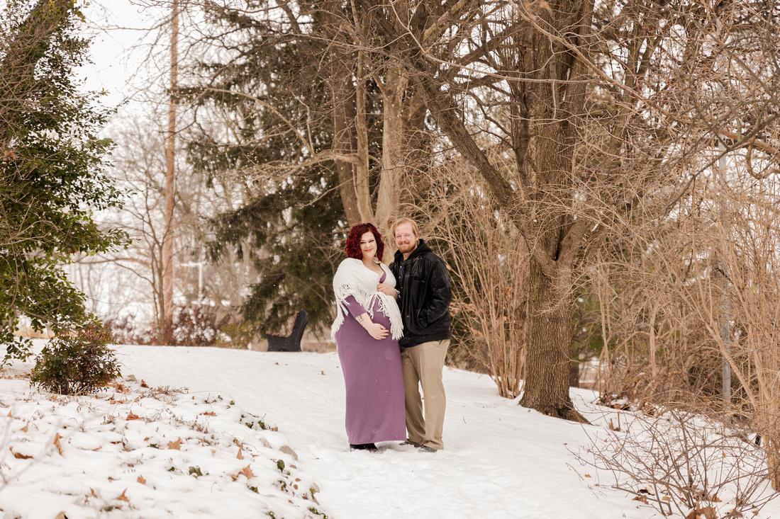 Henry - Blanchette Park Rau Garden - Winter Maternity - Brittany Lynn Imagery LLC - St Charles MO Photographer -1