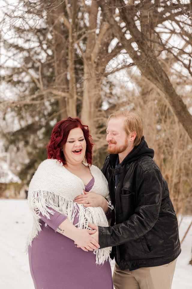 Henry - Blanchette Park Rau Garden - Winter Maternity - Brittany Lynn Imagery LLC - St Charles MO Photographer -7