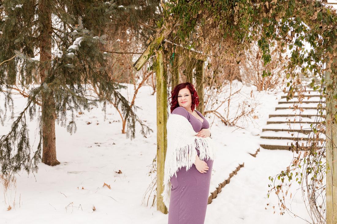 Henry - Blanchette Park Rau Garden - Winter Maternity - Brittany Lynn Imagery LLC - St Charles MO Photographer -10