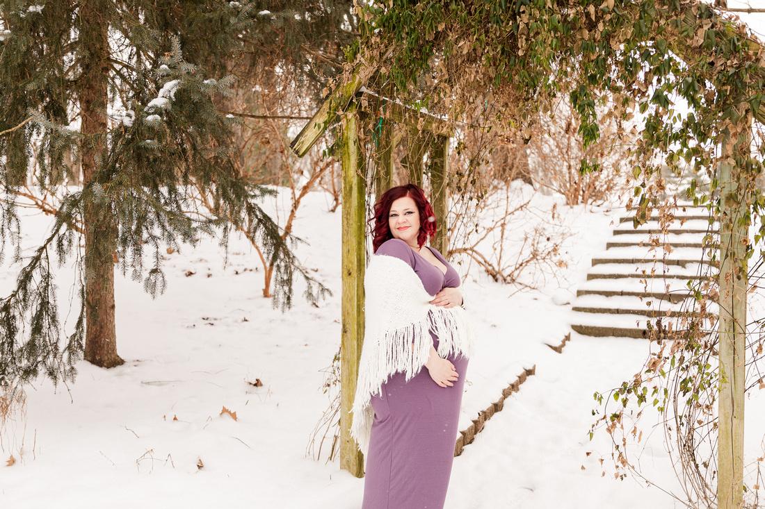 Henry - Blanchette Park Rau Garden - Winter Maternity - Brittany Lynn Imagery LLC - St Charles MO Photographer -11