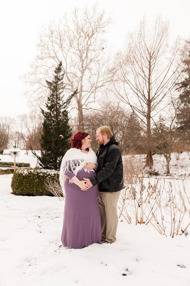 Henry - Blanchette Park Rau Garden - Winter Maternity - Brittany Lynn Imagery LLC - St Charles MO Photographer -73