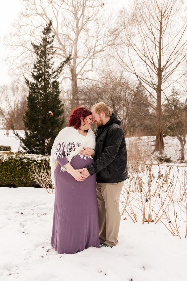 Henry - Blanchette Park Rau Garden - Winter Maternity - Brittany Lynn Imagery LLC - St Charles MO Photographer -76