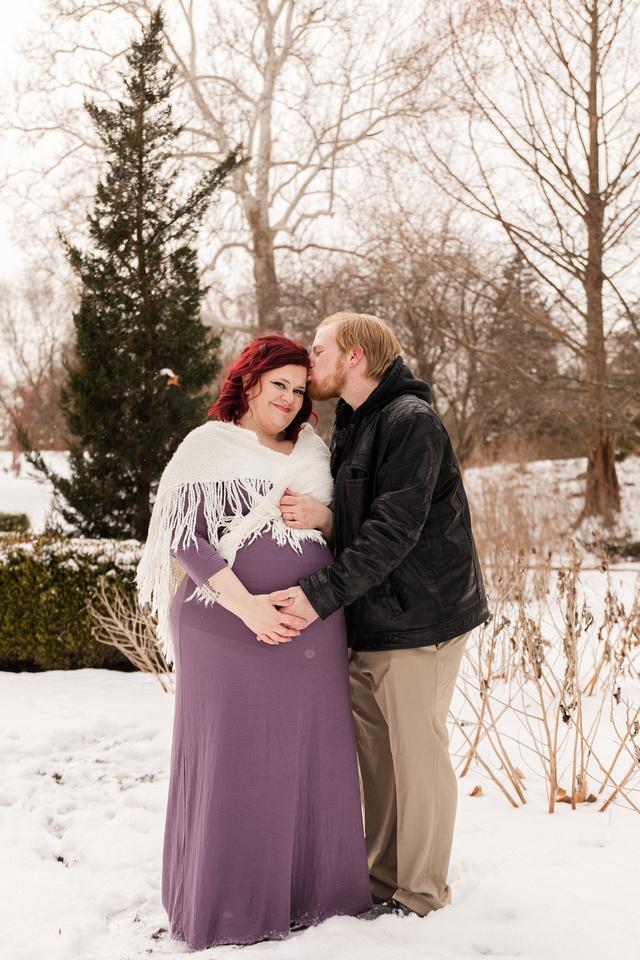 Henry - Blanchette Park Rau Garden - Winter Maternity - Brittany Lynn Imagery LLC - St Charles MO Photographer -78