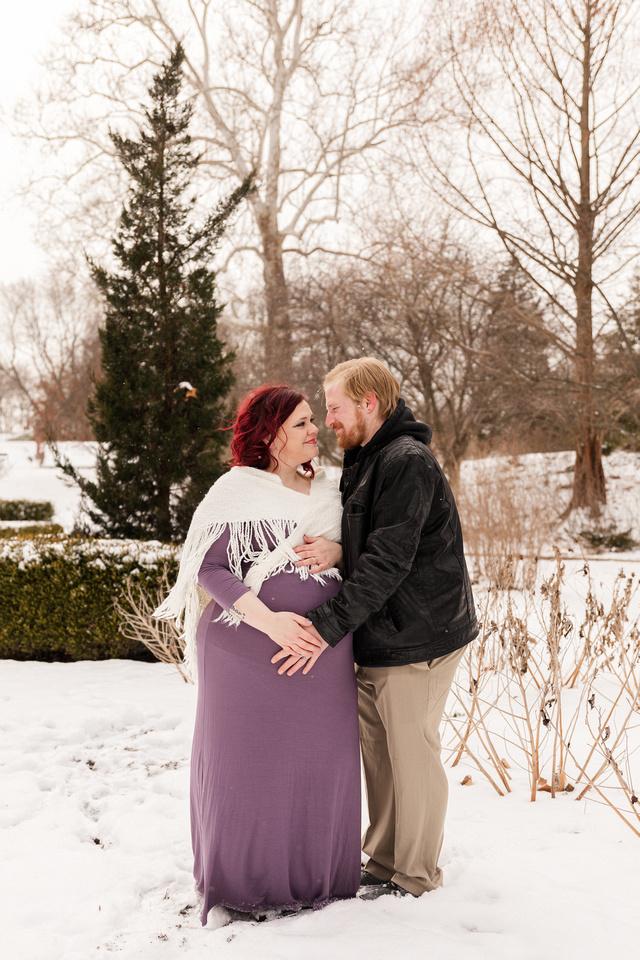 Henry - Blanchette Park Rau Garden - Winter Maternity - Brittany Lynn Imagery LLC - St Charles MO Photographer -79